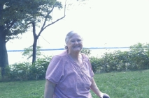 Kathy in front of Lake Ontario
