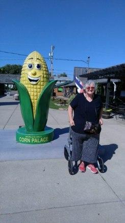 Kathy at the Corn Cob