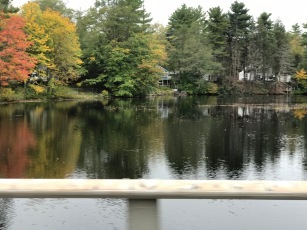 "The Squamscott River in front of Catherine McGinnis's home/farm that her grandchildren called ""The Pond."""